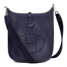 Hermès Bleu Saphir Clemence Leather Evelyne TPM