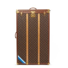 Louis Vuitton Brown Monogram Coated Canvas Vintage Custom Wardrobe Trunk