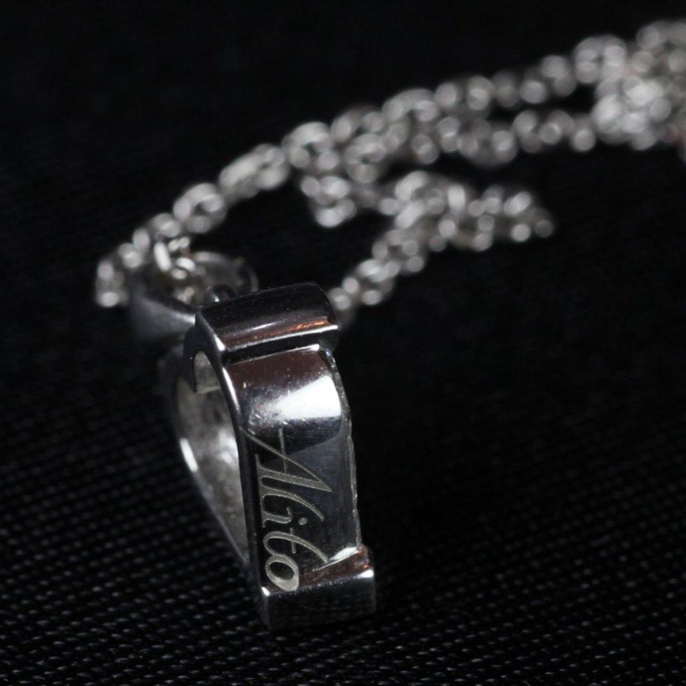 H.M Platinum Diamond Heart Pendant & Chain