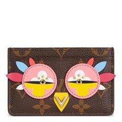 Louis Vuitton Brown Monogram Coated Canvas Multicolour Owl Card Holder