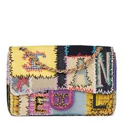 Chanel Multicolour Patchwork Multi-Fabric Jumbo Flap Bag