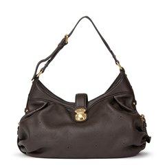 Louis Vuitton Chocolate Perforated Mahina Calfskin Leather Mahina XS