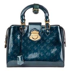 Louis Vuitton Bleu Nuit Monogram Vernis Leather Melrose Avenue