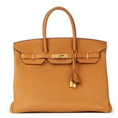 Hermès Caramel Togo Leather Birkin 35cm