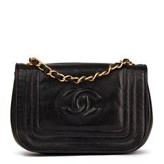 Chanel Black Lambskin Vintage Timeless Mini Flap Bag