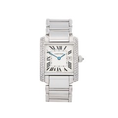 Cartier Tank Francaise 18K White Gold - 2491 or WE1018S3