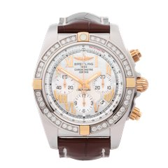 Breitling Chronomat Diamond Stainless Steel & 18K Rose Gold - IB011053/A693
