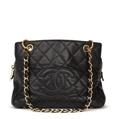 Chanel Black Quilted Caviar Leather Petite Timeless Tote PTT
