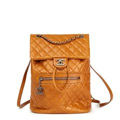 Chanel Caramel Calfskin Leather Small Mountain Backpack