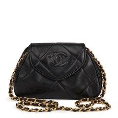 Chanel Black Quilted Lambskin Vintage Timeless Mini Shoulder Pochette