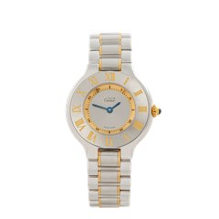 Cartier Must de 21 Stainless Steel & 18k Yellow Gold - 1340 or W10073R6