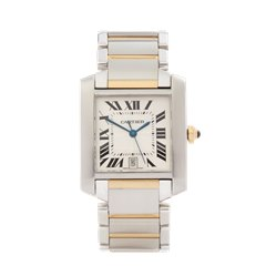 Cartier Tank Francaise Stainless Steel & 18k Yellow Gold - 2302 or W51005Q4