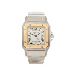 Cartier Santos Galbee Stainless Steel & 18k Yellow Gold - 1879