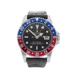 Rolex GMT-Master Gilt Gloss Pepsi 40mm Stainless Steel - 1675