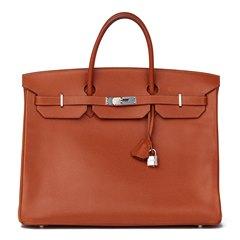 Hermès Noisette Vache Liégée Leather Birkin 40cm