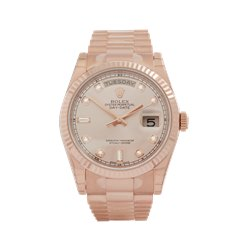Rolex Day-Date 36 18k Rose Gold - 118235
