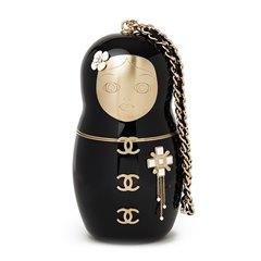 Chanel Black Plexiglass Matryoshka Doll Minaudiere