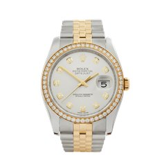 Rolex Datejust 36 Diamond Stainless Steel & 18k Yellow Gold - 116243