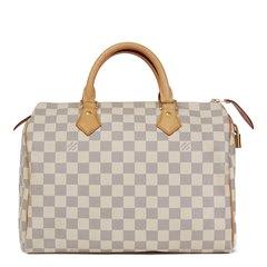 Louis Vuitton Beige Damier Azur Coated Canvas Speedy 30