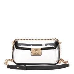 Chanel Black Patent Leather & Transparent PVC Naked Boy Flap Bag