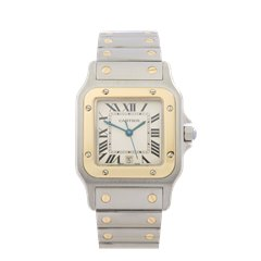 Cartier Santos Galbee Stainless Steel & 18k Yellow Gold - 1566/W20011C4