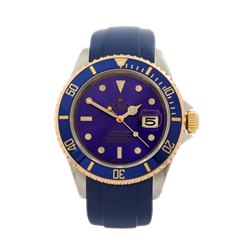Rolex Submariner Violet Dial Stainless Steel & 18k Yellow Gold - 16803