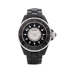 Chanel J12 Diamond Black Ceramic - H2122