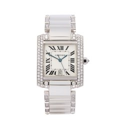 Cartier Tank Francaise Diamond 18k White Gold - WE1003SC