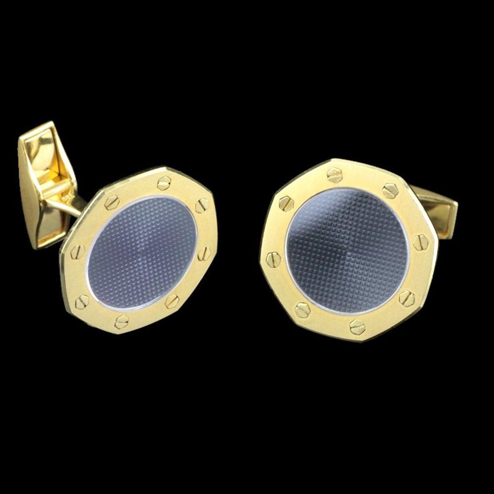 Audemars Piguet Royal Oak 18k Yellow Gold Cufflinks
