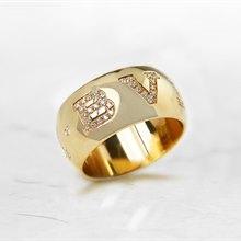Bulgari 18k Yellow Gold 0.50ct Diamond Monologo Ring