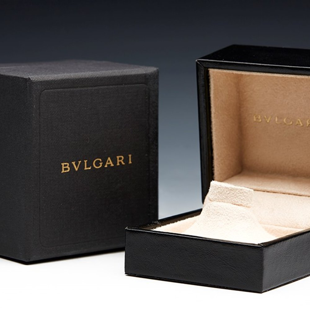 Bvlgari 18k Yellow Gold Monologo Ring