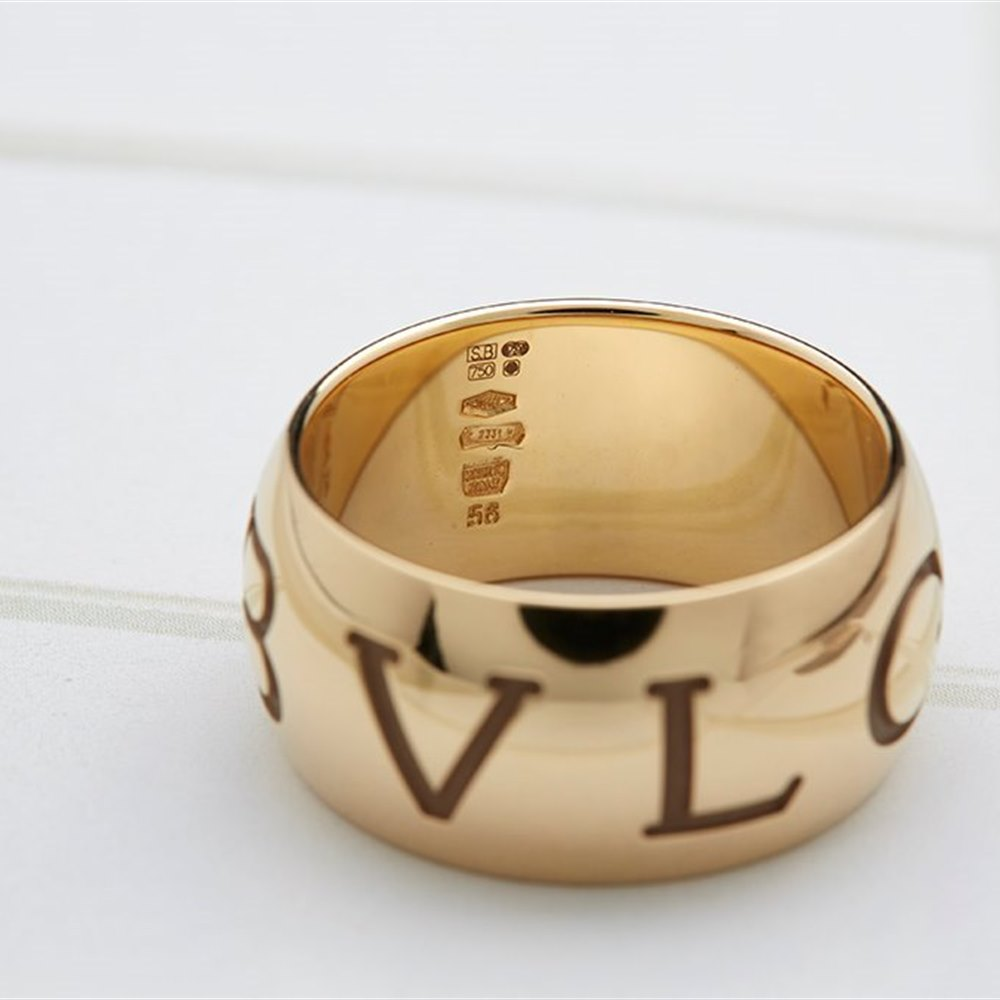 Bvlgari (Bulgari) 18K Yellow Gold Monologo Ring