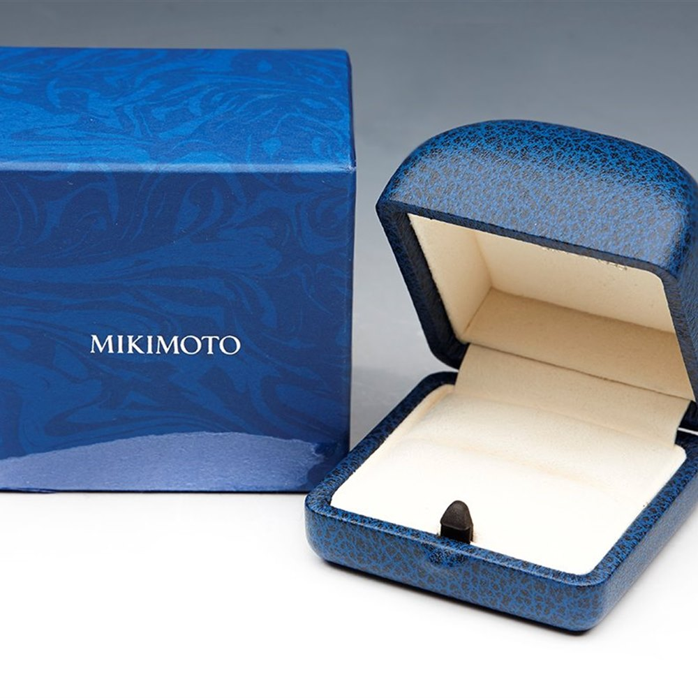 Mikimoto Lace 18k White Gold Akoya Pearl & Diamond Ring