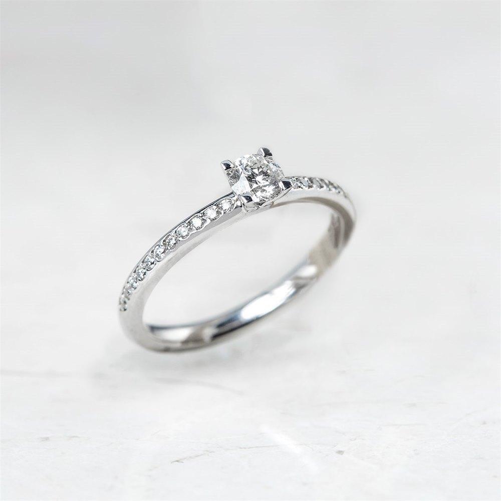 Platinum Round Brilliant Cut 0.33ct Diamond Ring