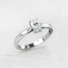 Mappin & Webb Platinum Oval Cut 0.50ct Diamond Engagement Ring