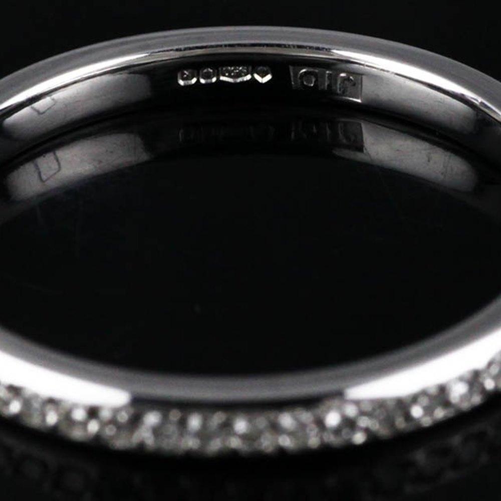 Mappin & Webb Platinum Diamond Wedding Band 0.15 cts G VS1 Ring Size M.5