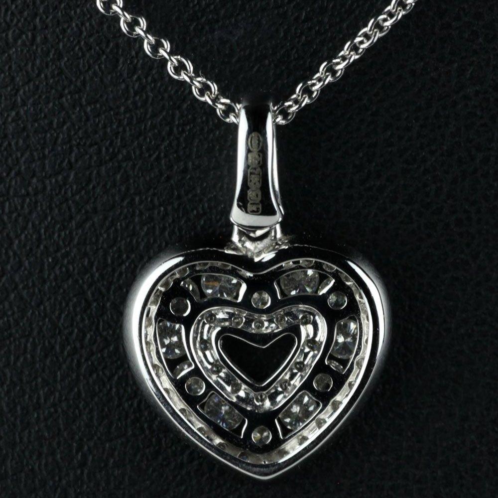 Mappin & Webb 18K White Gold Brilliant Cut 0.59cts Diamond Heart G VS1 Pendant Necklace