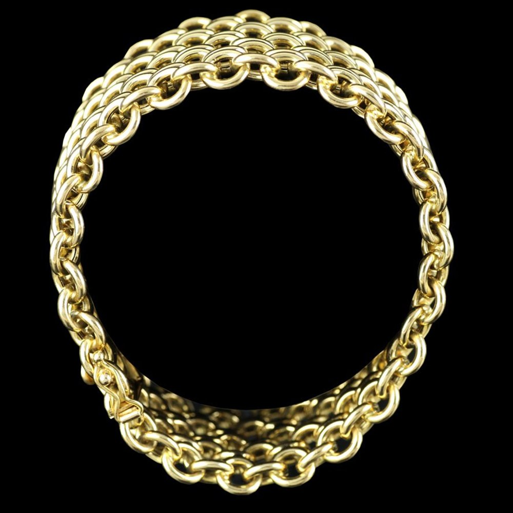 18k Yellow Gold Chain Link Bracelet