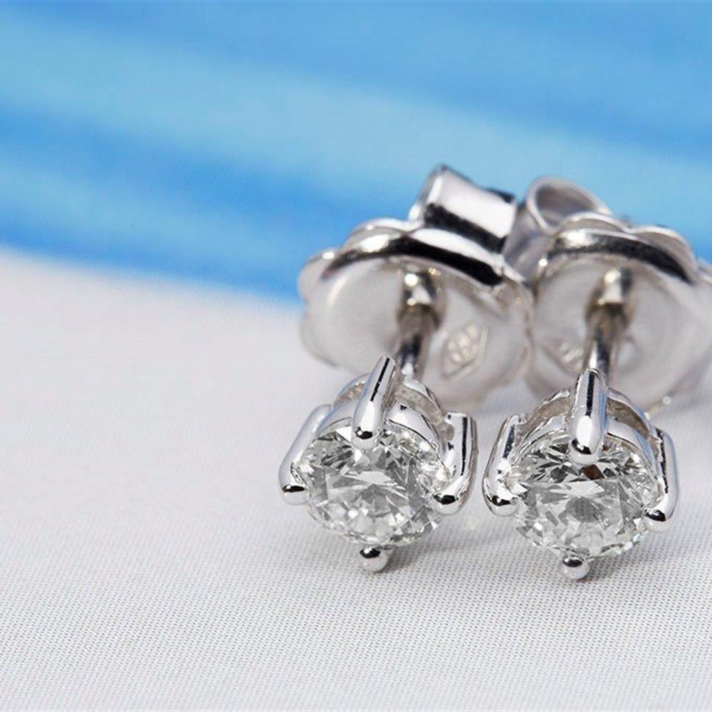 18k White Gold 0.51ct Diamond Stud Earrings