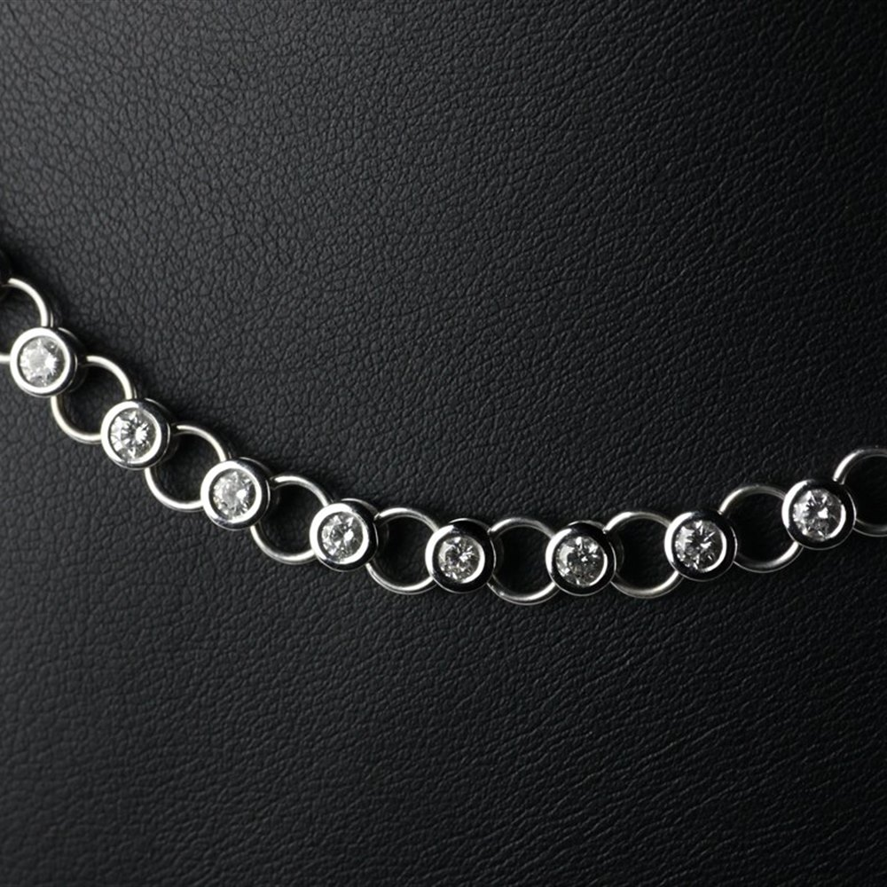 Theo Fennell 18ct White Gold & Diamond Set Slinky Necklace
