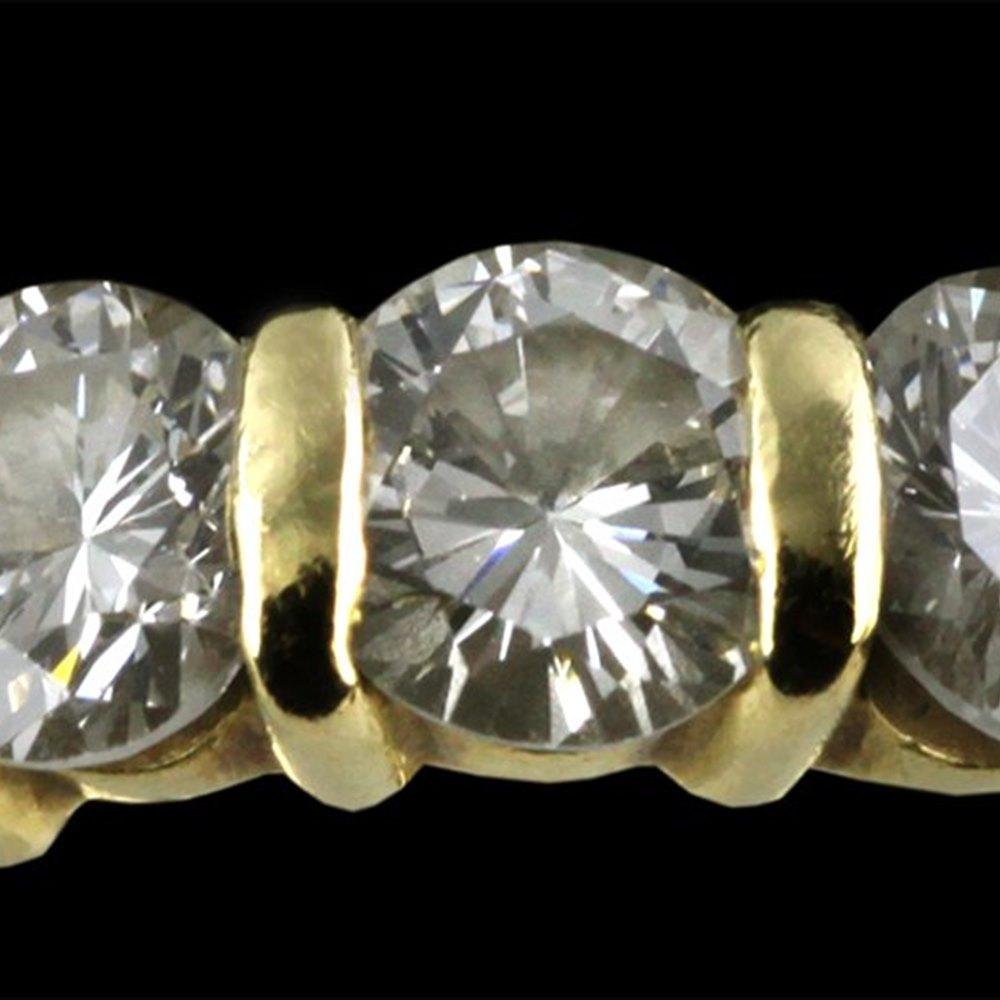 18ct Yellow Gold & Trilogy Diamond Ring