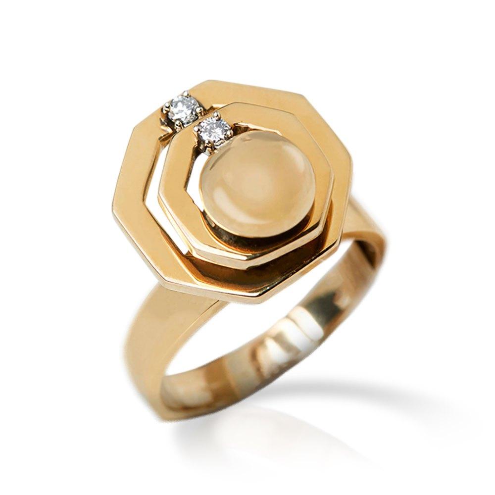 14k Yellow Gold 0.20ct Diamond Swivel Ring