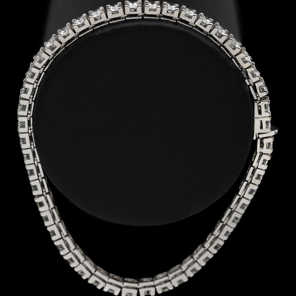 18k White Gold 7.20cts VS1 Colour F-G Diamond Tennis Bracelet