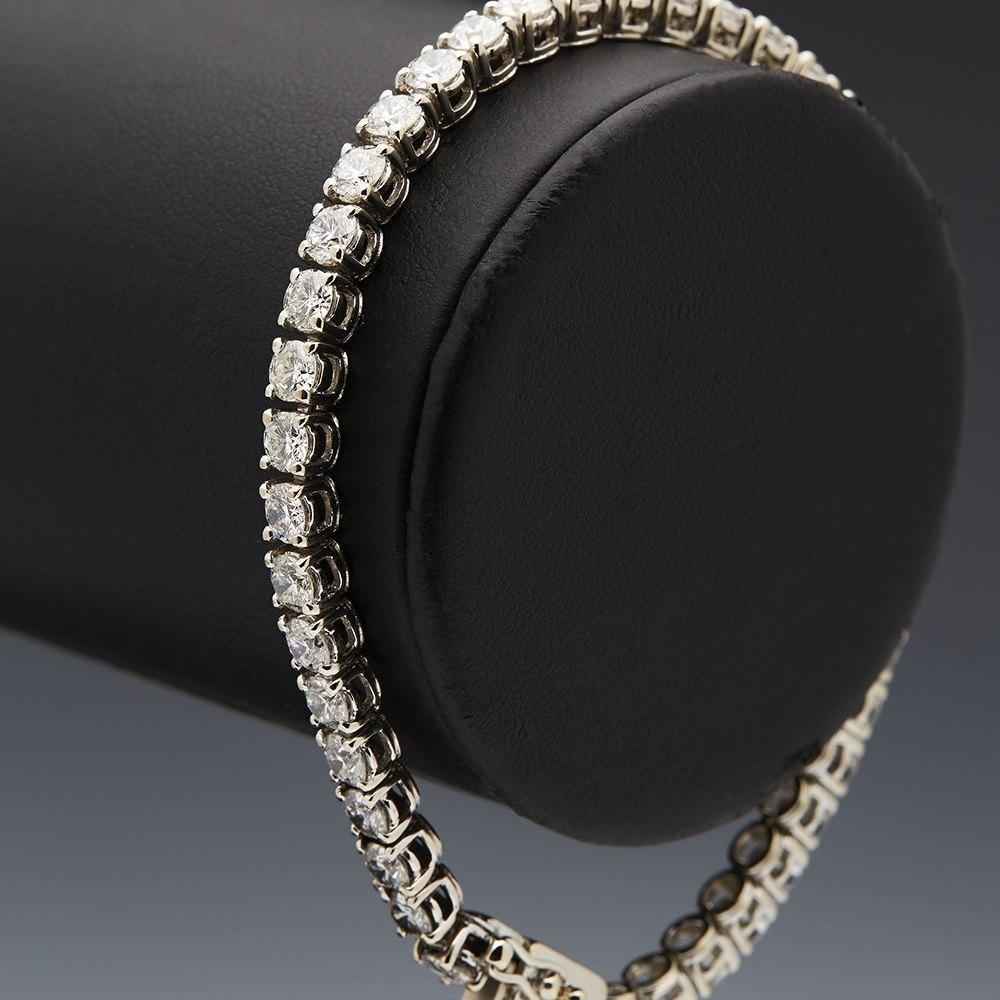 18k White Gold 9.50cts VS1 Colour F-G Diamond Tennis Bracelet