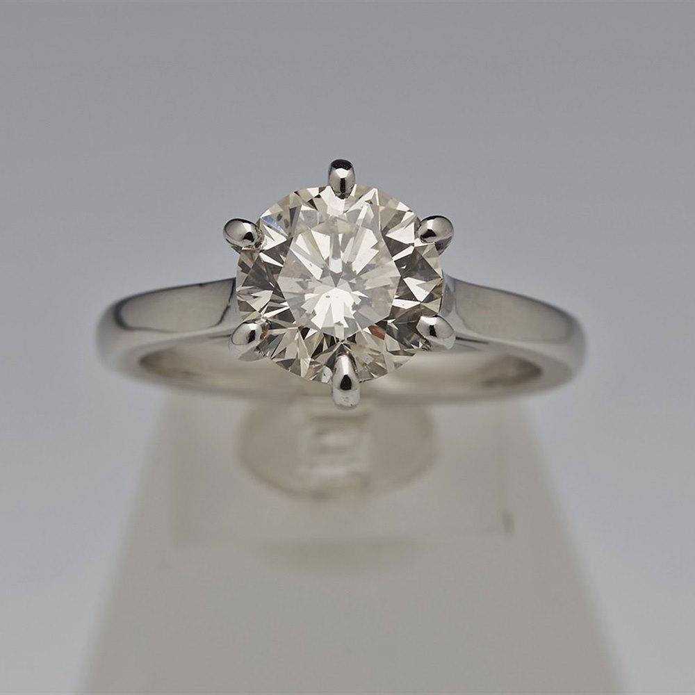 Platinum Diamond 2.70cts Ring