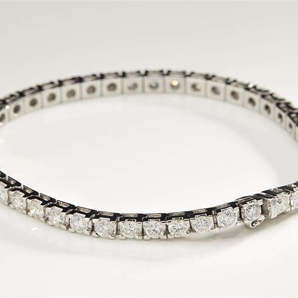 18K White Gold 8.50cts Diamond Tennis Bracelet