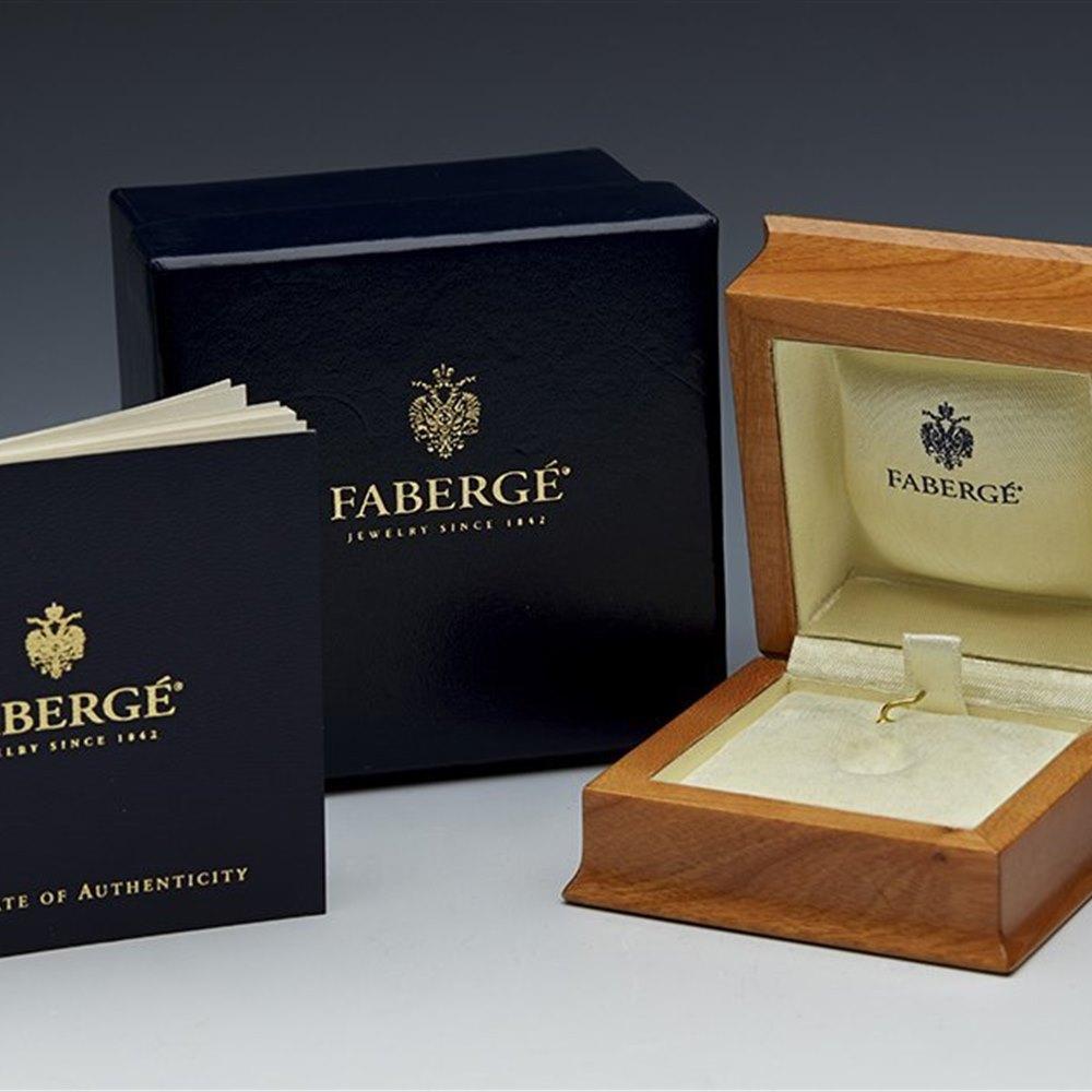 Faberge 18k Yellow Gold Fleur-de-lis Green Enamel Diamond Egg Pendant