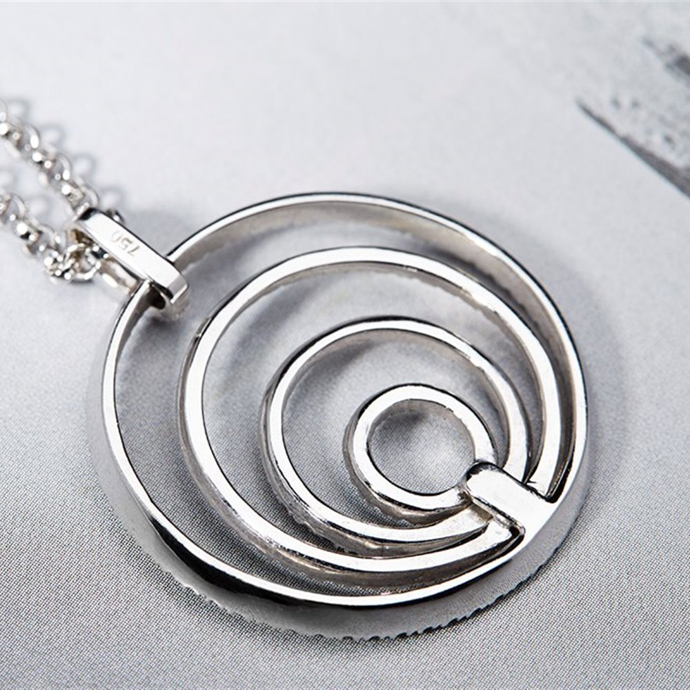 18k White Gold Diamond 1.04cts VS1 H Concentric Pendant