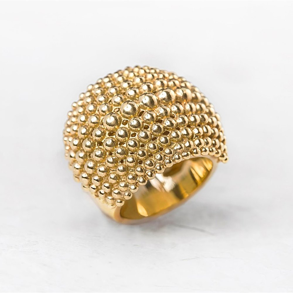 Carla Amorim 18k Yellow Gold Bombe Ring J293 Second Hand
