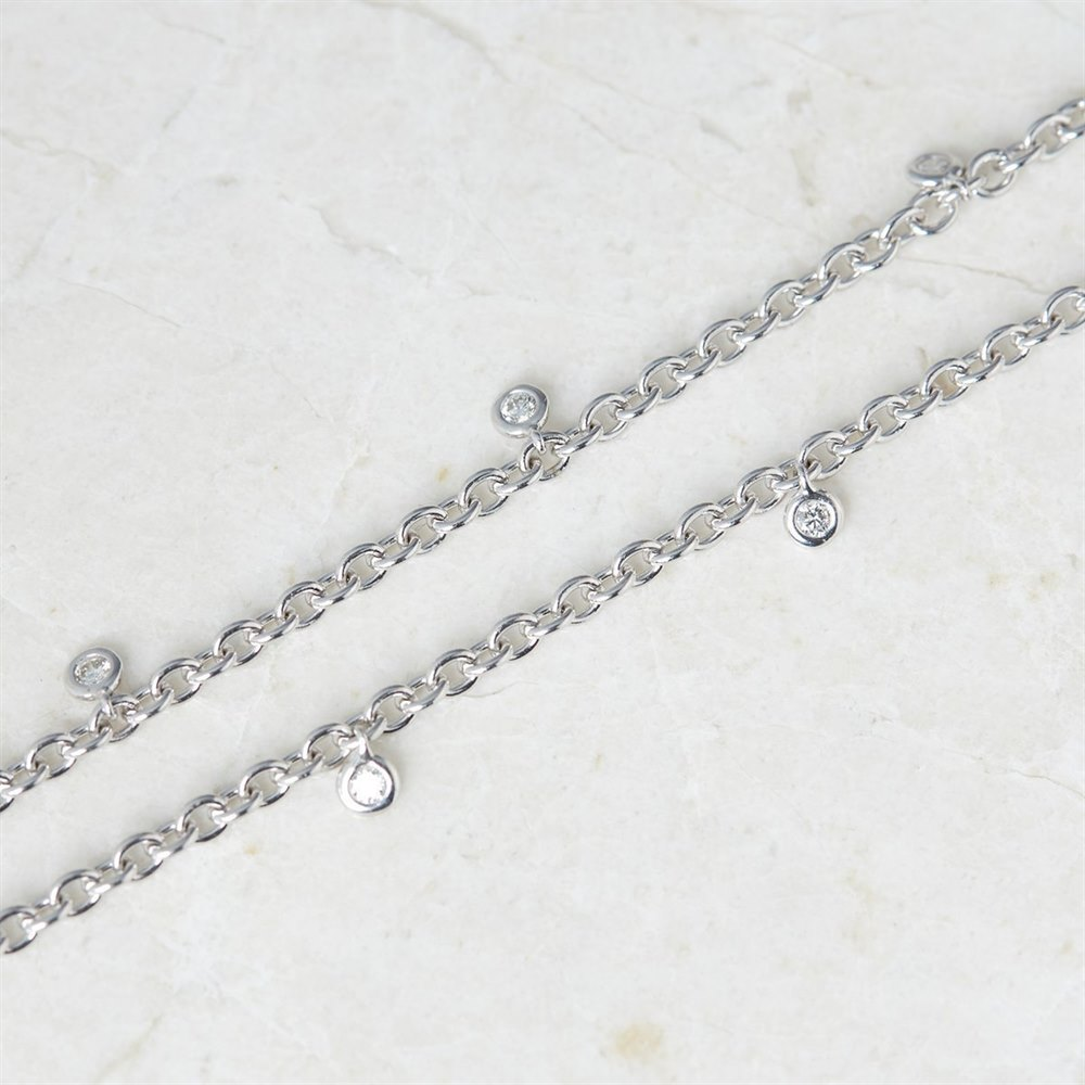 Picchiotti 18k White Gold 2.00ct Sapphire & 1.49ct Diamond Necklace